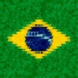 Waving fabric flag of Brazil Stock Photos