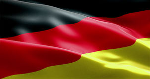 Waving fabric texture of the flag with color of germany Royalty Free Stock Photography