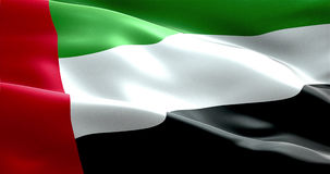 Waving fabric texture of the flag with color of united arab emirates Stock Photo