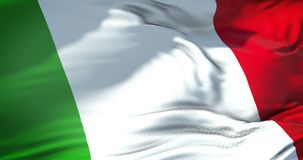 Waving fabric texture of the flag of italy, italian national patriotic flag concept democratic. Union stock video