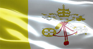 Waving fabric texture of the flag of vatican city state Royalty Free Stock Photo