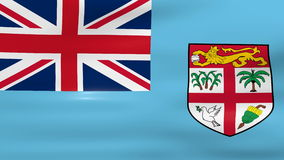 Waving Fiji Flag, ready for seamless loop Royalty Free Stock Photography