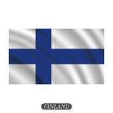 Waving Finland flag on a white background. Vector illustration. Waving  Finland flag on a white background. Vector illustration Royalty Free Stock Photography