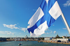 Waving Finnish Flag Royalty Free Stock Images