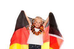 Waving flag. Little german soccer fan waving a flag Stock Photography