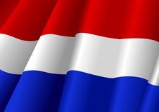 Waving Flag. Illustration of a waving Netherlands flag Stock Image