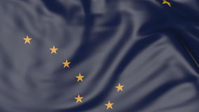 Waving flag of Alaska state. 3D rendering Royalty Free Stock Image