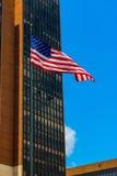 Waving flag. Waving american flag in philadelphia Stock Image