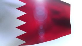Waving Flag of Bahrain wave. Video stock video