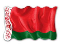 Waving flag of Belarus Royalty Free Stock Photos