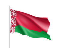 Waving flag of Belarus state Royalty Free Stock Photography