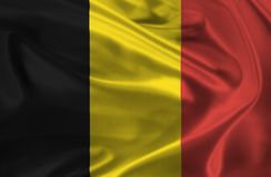 Waving flag of Belgium Stock Photos