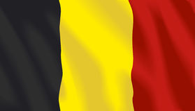 Waving flag of belgium. In vector Stock Photo