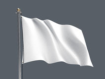 Waving flag / Blank flag - Grey background Stock Photography