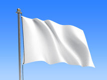 Waving flag / Blank flag - Sky background Stock Photo
