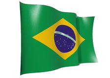 Waving flag of Brazil Royalty Free Stock Images