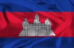 Waving flag of Cambodia Stock Image