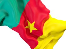 Waving flag of cameroon Stock Images