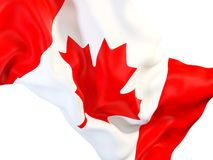 Waving Flag of Canada Stockbilder
