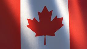 Waving Flag of Canada Abbildung 3D Lizenzfreies Stockfoto