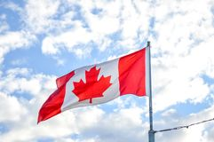Waving flag Canada royalty free stock images