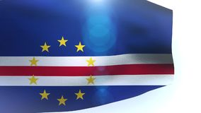 Waving flag of Cape Verde blowing in the wind stock footage
