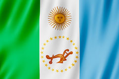 Flag of Chaco Province, Argentina. Waving Flag of Chaco Province, Argentina Stock Photo