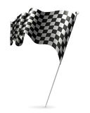 Waving flag checkered Stock Image