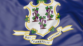 Waving flag of Connecticut state. 3D rendering Royalty Free Stock Image