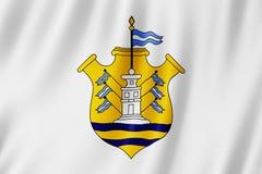 Flag of Cordoba city, Argentina. Waving Flag of Cordoba city, Argentina Stock Photo