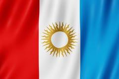 Flag of Cordoba Province, Argentina. Waving Flag of Cordoba Province, Argentina Royalty Free Stock Photos