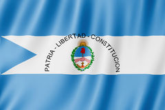 Flag of Corrientes Province, Argentina. Waving Flag of Corrientes Province, Argentina Stock Photography
