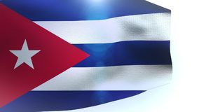 Waving flag of Cuba blowing in the wind wave stock video footage
