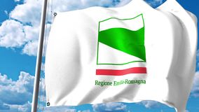 Waving flag of Emilia-Romagna, a region of Italy. 3D rendering Stock Photo