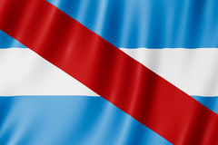 Flag of Entre Rios Province, Argentina. Waving Flag of Entre Rios Province, Argentina Stock Images