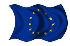 Waving flag European Union Royalty Free Stock Photo