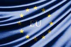 Waving flag of European Union Stock Image