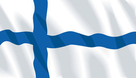 Waving flag of Finland Stock Photo