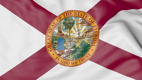 Waving flag of Florida state. 3D rendering Royalty Free Stock Image