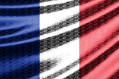 Waving flag of France Royalty Free Stock Images