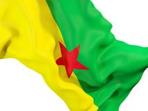 Waving flag of french guiana Royalty Free Stock Photography