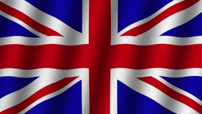 Waving flag of Great Britain . Animation. Footage. Background. Waving flag of Great Britain .  Animation. Footage. Background stock footage