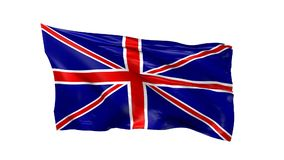 Waving flag of Great Britain. Using as background, 3d animation stock video footage