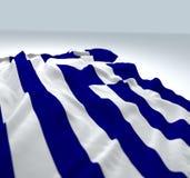 Waving flag greece Royalty Free Stock Photo