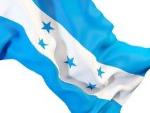 Waving flag of honduras. Closeup of waving flag of honduras. 3D illustration Stock Photography