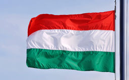 Waving flag of Hungary royalty free stock images