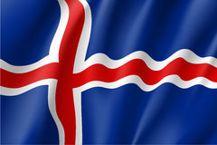 Waving flag of Iceland Stock Images