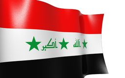 Waving flag of iraq Royalty Free Stock Photo