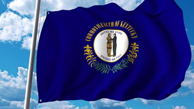 Waving flag of Kentucky. 3D rendering Stock Images