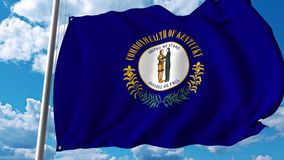 Waving flag of Kentucky vector illustration